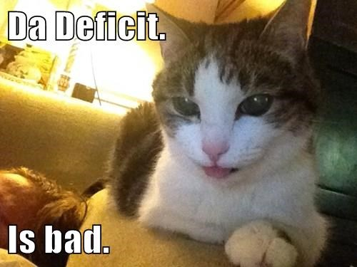 Da Deficit.   Is bad.
