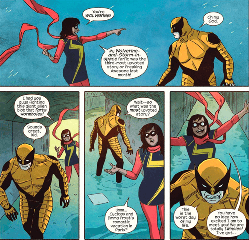ms marvel,fanfic,Straight off the Page,wolverine