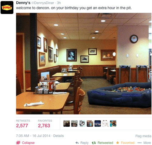 Denny's Makes a Well-Timed Potshot at DashCon