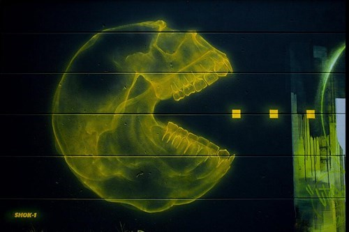 Pac-Man X-Ray Graffiti