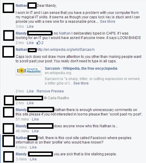 caps lock,sarcasm,failbook