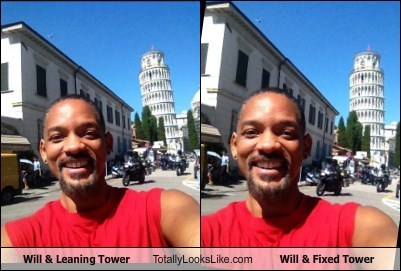 Will & Leaning Tower Totally Looks Like Will & Fixed Tower