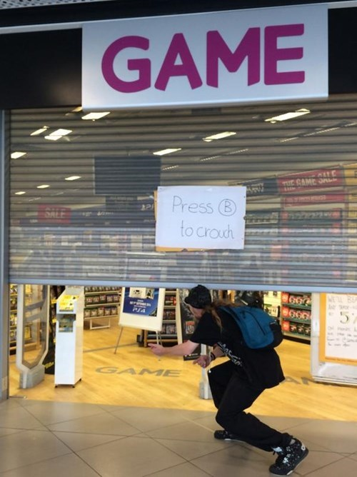 Video Game Store Makes the Most of Their Broken Shutters