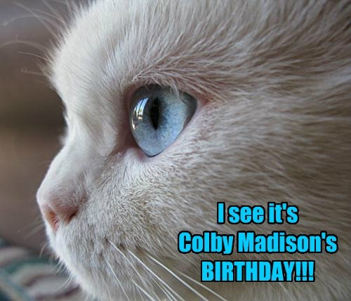 I see it's  Colby Madison's BIRTHDAY!!!