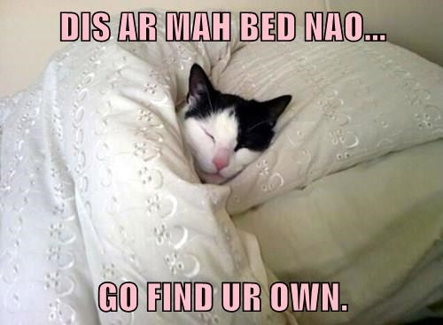 DIS AR MAH BED NAO...  GO FIND UR OWN.
