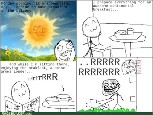 breakfast,noise,trollface,rage,lawnmoer