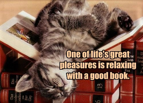 One of life's great pleasures is relaxing with a good book.
