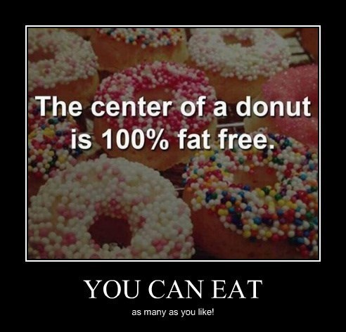 fat free,donuts,funny,healthy
