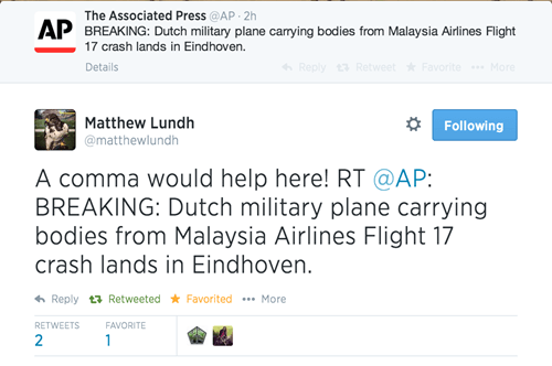 The Associated Press Learns the Hard Way that Commas Save Lives