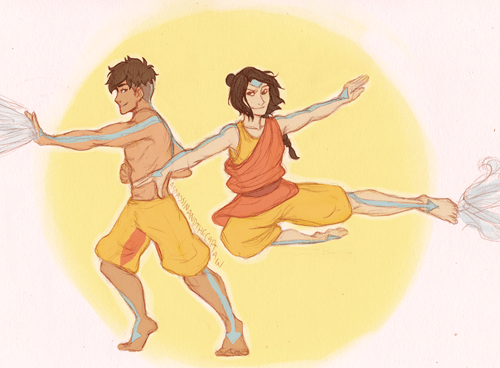 Kai and Jinora All Grown Up