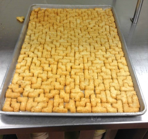 "They Call Them ""Puzzle Potatoes"" but We KNOW They Mean ""Tetris-Tots"""