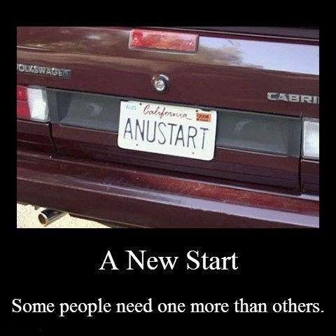 anus tart,arrested development,license plate,funny