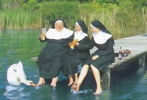 Just a Group of Drunk Nuns