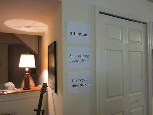 Hypocrisy,monday thru friday,management,paper,sign
