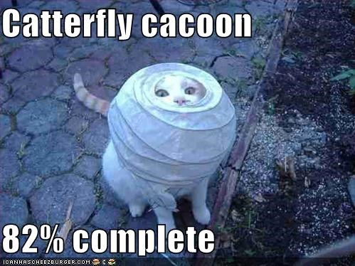 Catterfly cacoon  82% complete