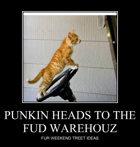 PUNKIN HEADS TO THE FUD WAREHOUZ