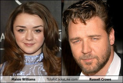 Maisie Williams Totally Looks Like Russell Crowe