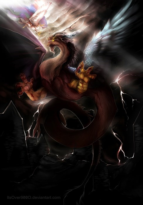 Hyper Realistic Discord vs Celestia Fantasy Art Is Almost Too Cool