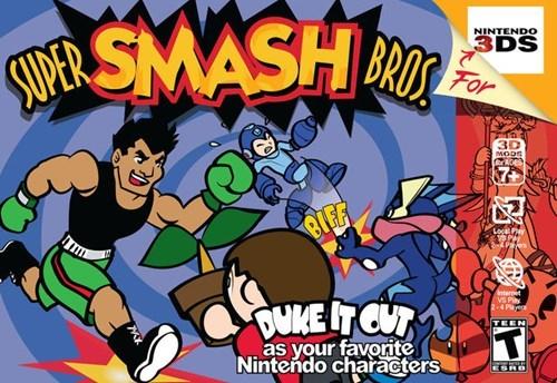 awesome,3DS,box art,nintendo 64,super smash bros