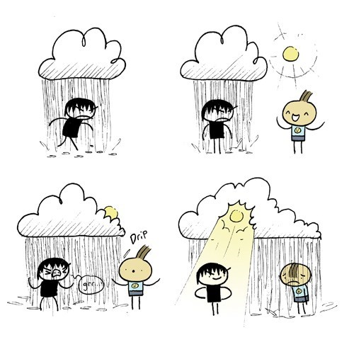 emotions,schadenfreude,rain,web comics