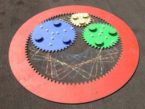 This 8-Foot Chalk Spirograph is Your Childhood Enhanced