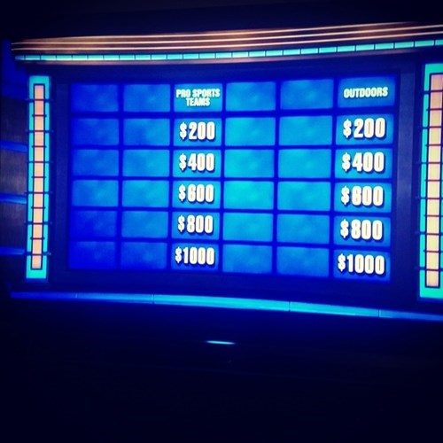 To Be a Contestant on Teen Jeopardy!, You Pretty Much Have to Be a Nerd. This is How the Nerds Left the Board After Answering the First 16 Questions.
