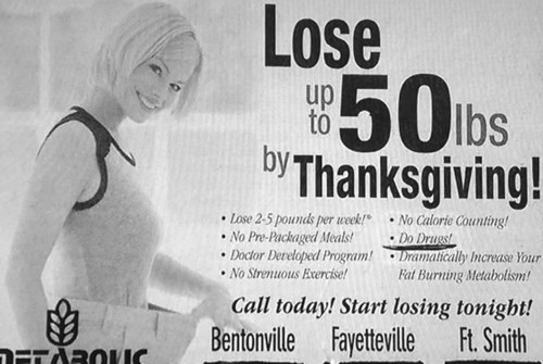 weight loss,advertisement,newspaper