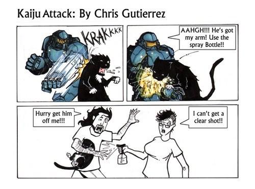 kaiju,pacific rim,Cats,web comics