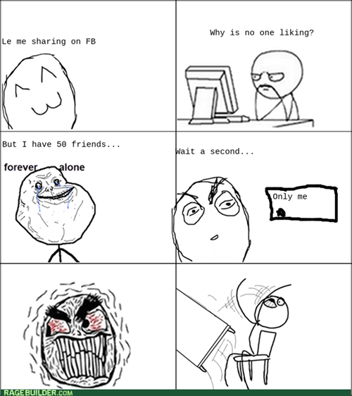 forever alone,rage,privacy,settings,facebook,table flipping