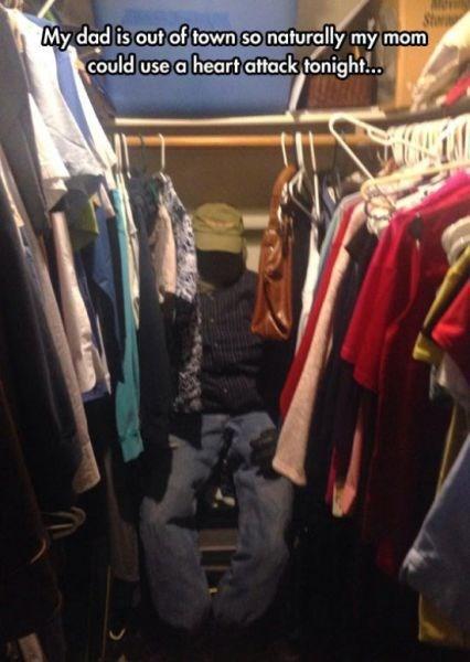 closets,parents,scare pranks