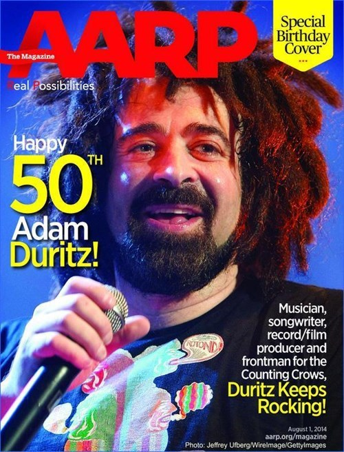 Congratulations to Adam Duritz for Being the First Person With Dread Locks on the Cover of AARP Magazine