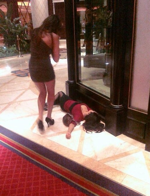 Passing Out in Vegas...It's Classy!