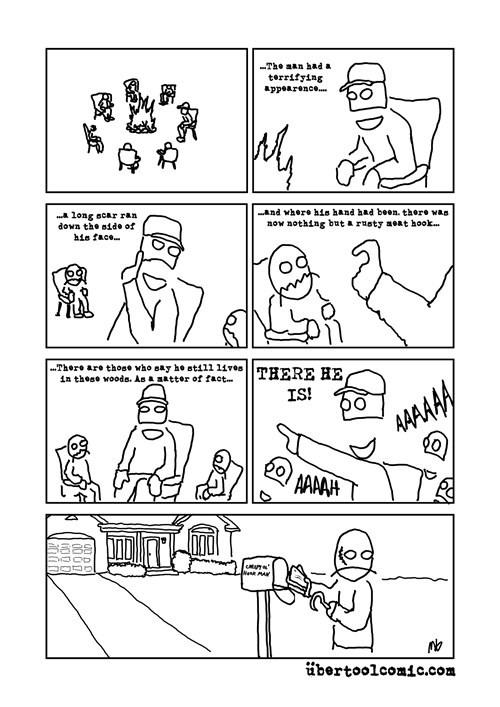 neighbors,scary stories,hooks,web comics