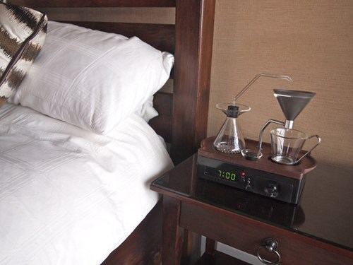 This Coffee-Making Alarm Clock Should be Standard Issue in All College Dorms
