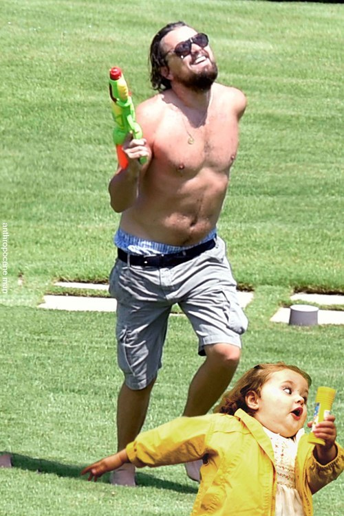 Leonardo DiCaprio gets Down With a Water Pistol