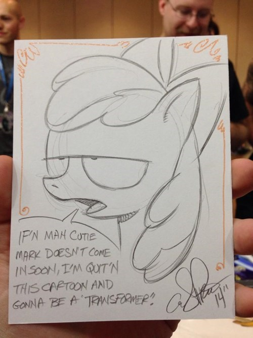 Applebloom considers her contract renegotiation