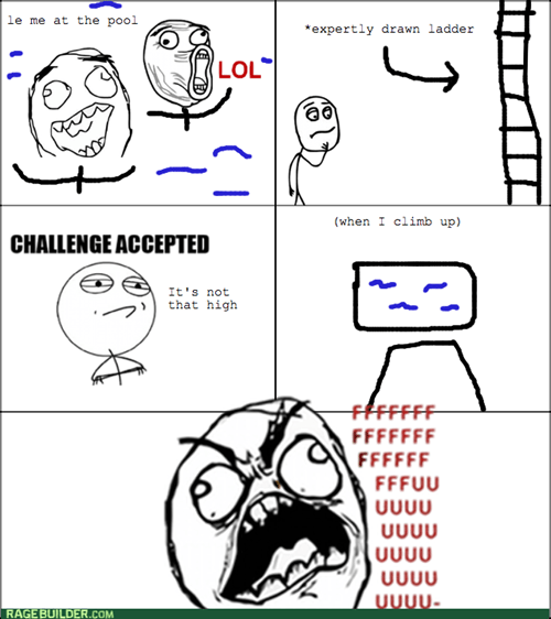 rage,Challenge Accepted,diving board,swimming,pool