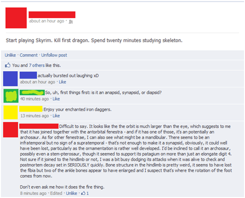 A Biology Major Plays Skyrim
