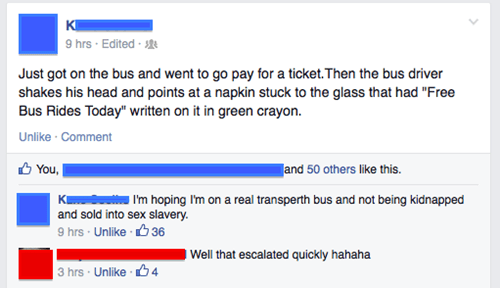 Free Bus Ride, Not Even Once