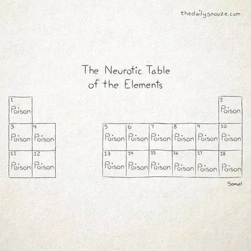 elements,scared,neurotic,science,funny