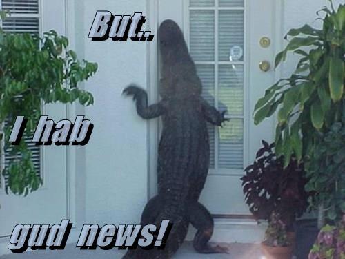 But.. I  hab gud  news!