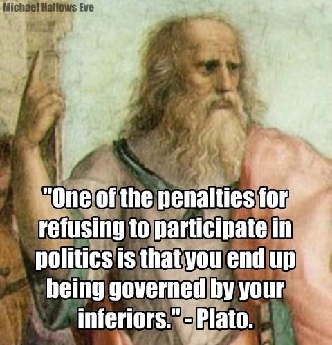 Plato Quote - Politics