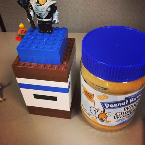 ...and the peanut butter jar.