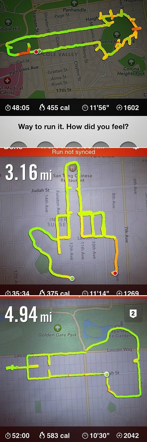 Running Sucks, Except When Your Route is Also a Peen