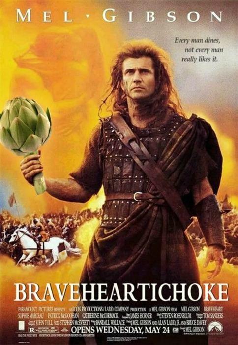 artichoke,puns,Braveheart