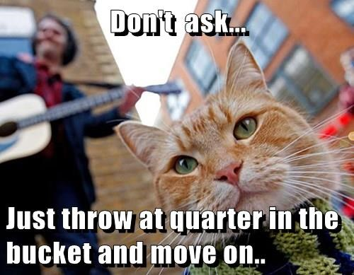 Don't  ask...   Just throw at quarter in the bucket and move on..