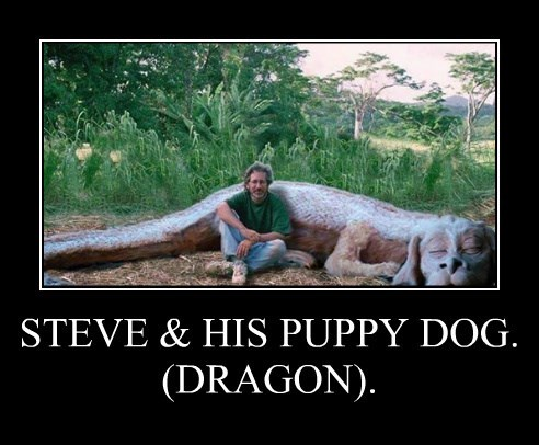 STEVE & HIS PUPPY DOG. (DRAGON).