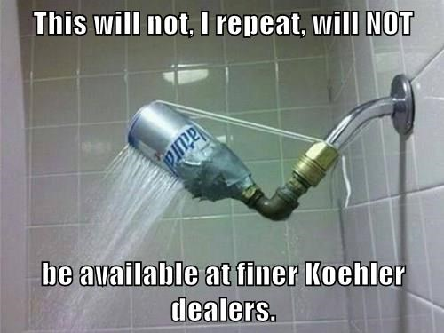 This will not, I repeat, will NOT  be available at finer Koehler dealers.