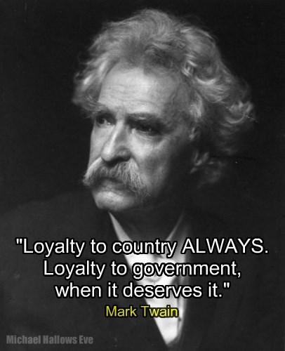 "Mark Twain - ""Loyalty"""