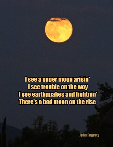 Super Moon, Southern California Style